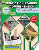 Nonfiction Reading Comprehension  Informational Reading  Grade 3