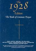 The Book Of Common Prayer 1928