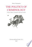 The Politics of Criminology
