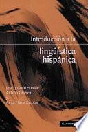 download ebook introducción a la lingüistica hispánica pdf epub