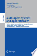 Multi Agent Systems And Applications Iv