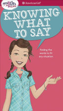 A Smart Girl s Guide  Knowing What to Say