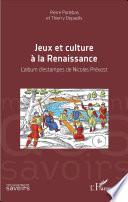 illustration du livre Jeux et culture à la Renaissance