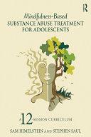 download ebook mindfulness-based substance abuse treatment for adolescents pdf epub