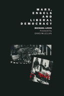 Marx, Engels and Liberal Democracy Book
