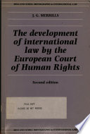 The Development of International Law by the European Court of Human Rights