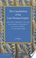 The Constitution of the Later Roman Empire