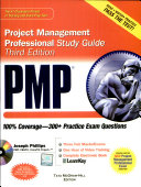 Pmp Project Management Professional Study Guide With Cdrom  Third Edition