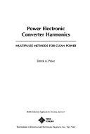Power electronic converter harmonics