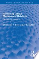 Rethinking Labour Management Relations Book PDF
