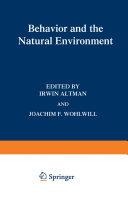 Behavior and the Natural Environment