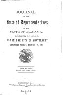 Journal of the House of Representatives  State of Alabama