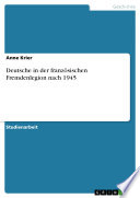 Deutsche in der franz  sischen Fremdenlegion nach 1945