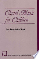Choral Music For Children book