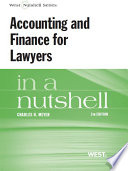 Accounting and Finance for Lawyers in a Nutshell  5th