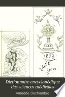 Dictionnaire encyclop  dique des sciences m  dicales