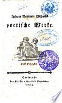 Johann Benjamin Michaelis poetische Werke
