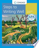 Steps to Writing Well with Additional Readings  2016 MLA Update