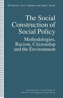 The Social Construction of Social Policy