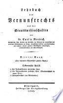 Lehrbuch des Vernunftrechts und der Staatswissenschaften