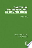 Capitalist Enterprise and Social Progress