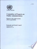 Report Of The Committee Of Experts On Public Administration On The Ninth Session 19 23 April 2010