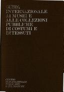 Guida internazionale ai musei e alle collezioni pubbliche di costumi e di tessuti