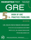 5 lb  Book of GRE Practice Problems  2nd Edition