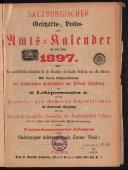 Salzburgischer Geschäfts-, Volks- und Amts-Kalender