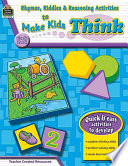 Rhymes  Riddles   Reasoning Activities to Make Kids Think  Grade Pre K