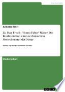 Zu Max Frisch   Homo Faber  Walter  Die Konfrontation eines technisierten Menschen mit der Natur