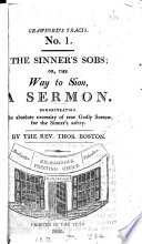 The sinner s sobs  or  The way to Sion  a sermon