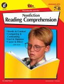 Nonfiction Reading Comprehension  Grades 7 8