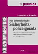 Das österreichische Sicherheitspolizeigesetz