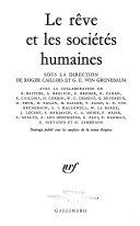 Le rêve et les sociétés humaines