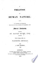 A Treatise of Human Nature ...