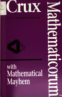 Crux Mathematicorum with Mathematical Mayhem