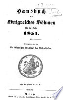 Handbuch des Königreiches Böhmen für das Jahr ...