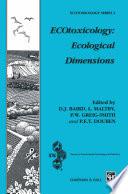 ECOtoxicology  Ecological Dimensions