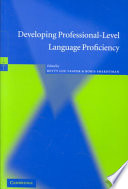Developing Professional Level Language Proficiency
