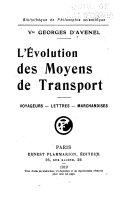 illustration du livre L'évolution des moyens de transport