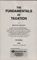 THE FUNDAMENTALS OF TAXATION  2000 ED