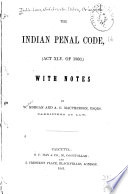 The Indian Penal Code  act XLV of 1860