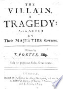 The Villain  a tragedy in five acts and in verse   etc Book PDF