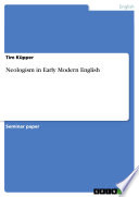 Neologism in Early Modern English