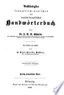 Vollständigstes französisch-deutsches und deutsch-französisches Handwörterbuch0