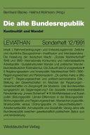 Die Alte Bundesrepublik