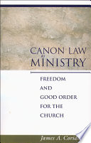 Canon Law as Ministry