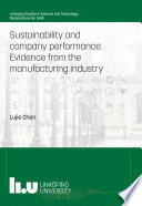 Sustainability and company performance  Evidence from the manufacturing industry