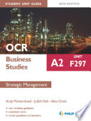 OCR Business Studies A2 Student Unit Guide  Unit F297 New Edition  Strategic Management ePub
